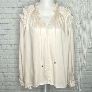 Sundance ivory ruffled top